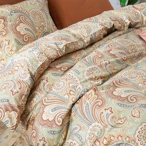 100% cotton 3-pc Paisley Luxury Duvet / shams King